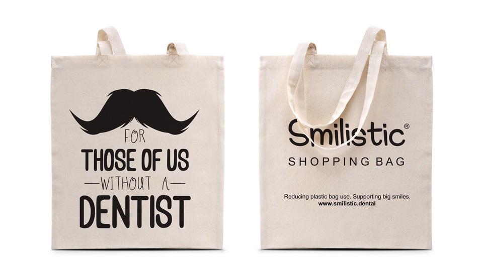 """""""Without a Dentist"""" Smilistic® Shopping Bag pamutvászon bevásárlótáska"""