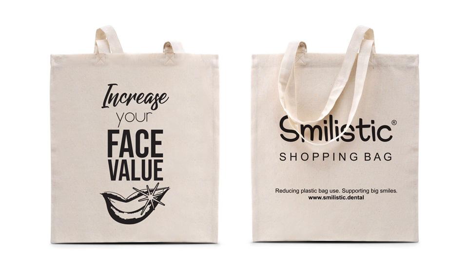 """""""Increase Your Face Value"""" Smilistic® Shopping Bag pamutvászon bevásárlótáska"""